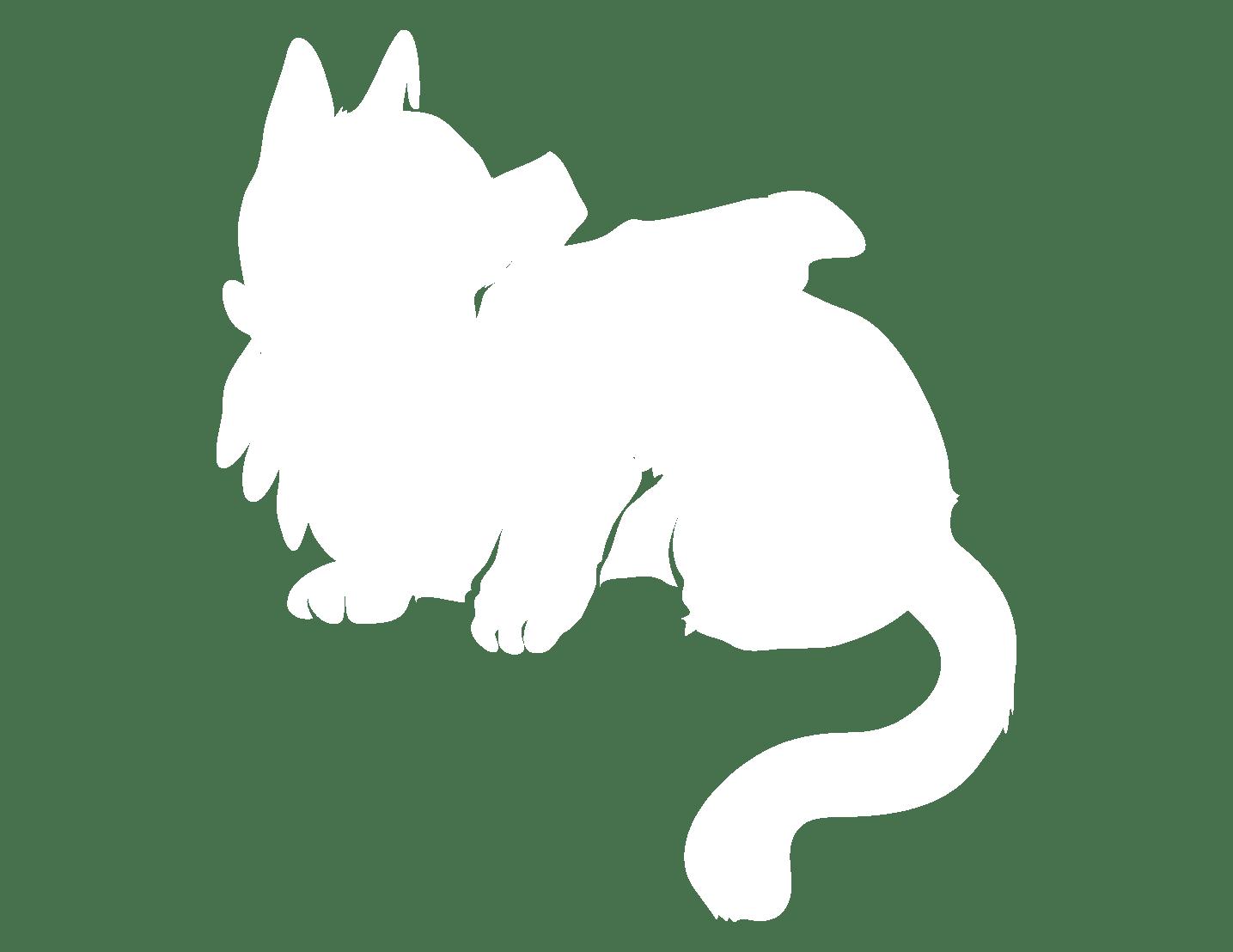 Grafik: Festhalten einer Katze, um sie nach Zecken abzusuchen.