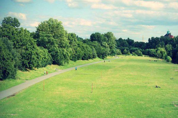 Aufnahme eines Stadtparks